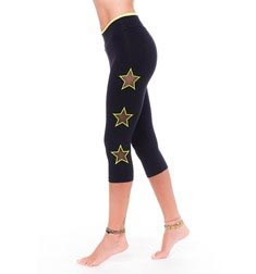 Womens Mesh Neon Stars Supplex Capri