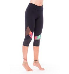 Womens Sports Capri Supplex with Design