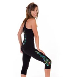 Adults Moisture Wicking Racer Back Embroidered Top