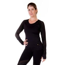 Perforated Long Sleeve Adult Shirt with Thumb Holes