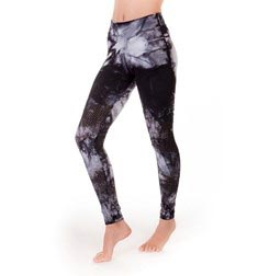 Adults Cyber Perforated Tie Dye Long Supplex Leggings