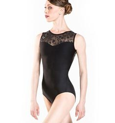 Flocked Tulle Tank Dance Leotard MAJESTE