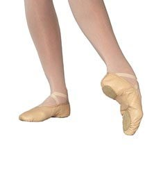 IVA Leather Split-Sole Ballet Shoes
