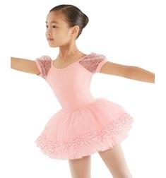 Childs Sequin Ruffle Hem Layered Tutu Skirt