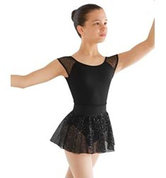 Glittery Sequin Mesh Pull On Ballet Skirt
