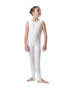 Dance Unitard with Stirrups for Girls
