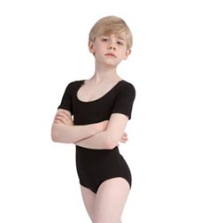 Short Sleeve Dance Leotard for Boys