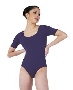 Short Sleeved Dance Leotard For Women