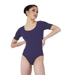 Short Sleeved Dance Leotard For Women