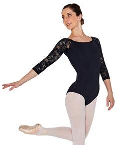 Women Long Sleeve Scoop Back Dance Leotard