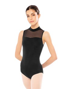 Mesh Halter Sleeveless Leotard For Women
