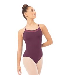 Mesh Racer Back Camisole Dance Leotard For Women