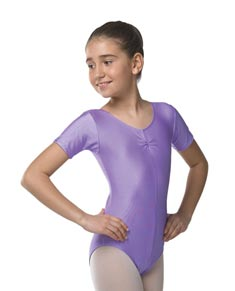 Girls Short Sleeve Lycra Dance Leotard