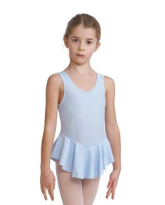 Girls Lycra Ballet Leotard with Skirt