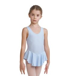 Girls Lycra Tank Dance Leotard with Skirt