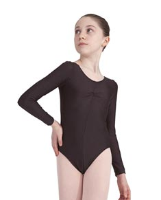 Women Lycra Long Sleeve High Scoop Back Leotard