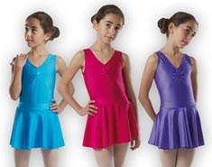 Girls Lycra Elastic Waist Dance Skirt