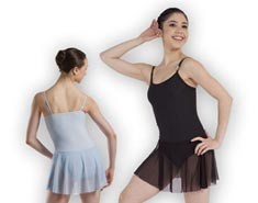 Women Microfiber Skirted Dance Leotard