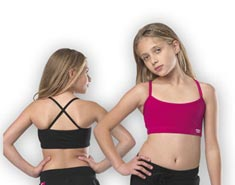 Girls Cross Back Dance Bra Top