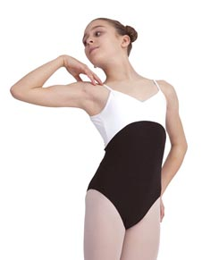 Girls Two Tone Camisole Dance Leotard
