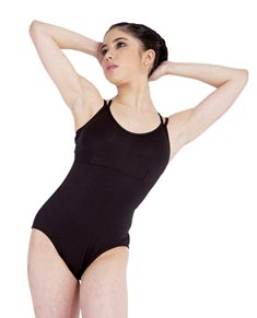 Women Camisole Crisscross Straps Dance Leotard