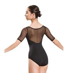 Women Mesh Long Sleeve Dance Leotard