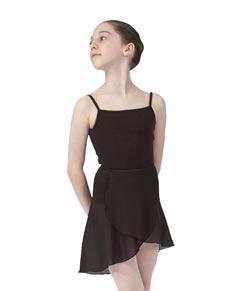 Girls Short Sheer Ballet Wrap Skirt