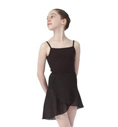 Girls Short Sheer Ballet Wrap Skirt