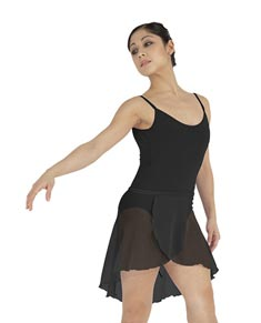 Womens Short Sheer Ballet Wrap Skirt