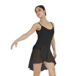 Womens Short Sheer Ballet Wrap Skirt