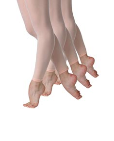 Pack of 3 Girls Footless Ballet Tights