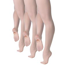 Pack of 3 Girls Convertible Ballet Tights