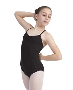 Girls Cotton Cross Back Camisole Dance Leotard