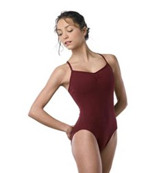 Camisole Gathered Bust Dance Leotard For Women