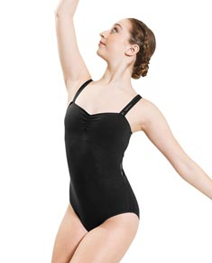 Women Camisole Mesh Dance Leotard