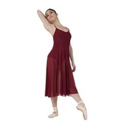 Women Long Mesh Dress Dance Leotard
