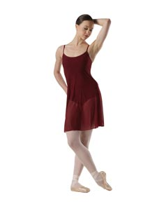 Women Mesh Skirted Dance Leotard