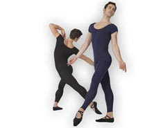 Mens Short Sleeve Dance Unitard
