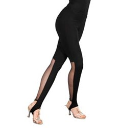 Women Microfiber Mesh Leggings With Stirrup