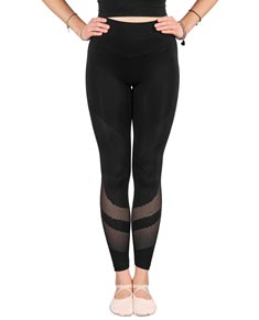 Women Microfiber Mesh Seamless Leggings