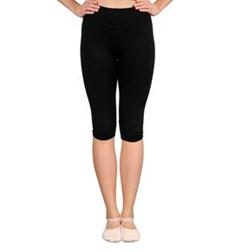 Women Microfiber Mesh Seamless Capri Pants