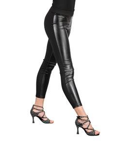 Women Microfiber Eco-Leather Leggings