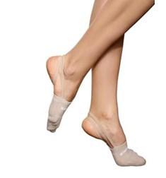 Demi Pointe Shoes in Terry Cloth with Elastic Band
