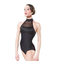 Womens Mock Neck Dance Leotard REVE
