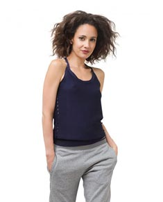 Womens Light Stretchy Knit Camisole Dance Top