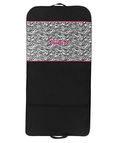 Zebra Dance Costume Garment Bag