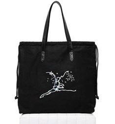 Drawstring bag with holographic print