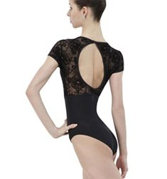 Womens Short Sleeves Dance Leotard DIXIE
