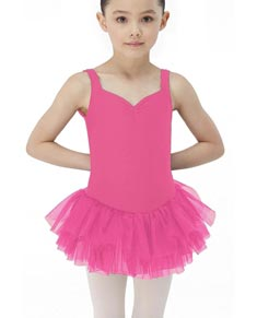 Girls Three Layers Tank Tutu Dress NOISETTE